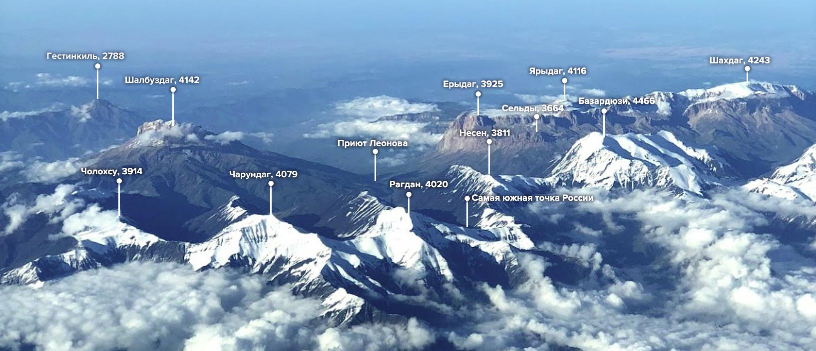 Самая южная точка России - вид сверху